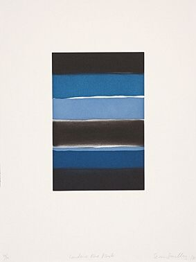 Etching And Aquatint Scully - Landline Blue Black