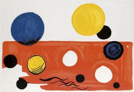 Lithograph Calder - Landscape