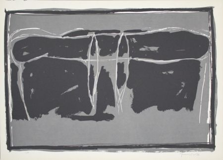 Lithograph Hernandez Pijuan - Landscape 2