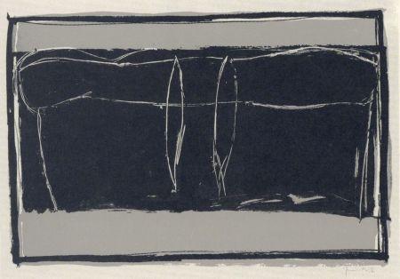 Lithograph Hernandez Pijuan - Landscape 3