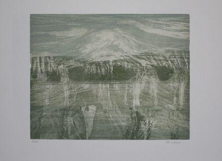 Woodcut Wolf - Landschaft