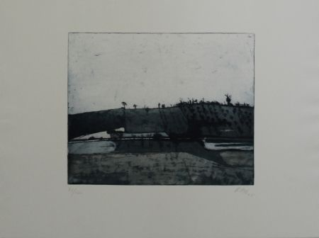 Etching And Aquatint Biederbick - Landschaft / Landscape