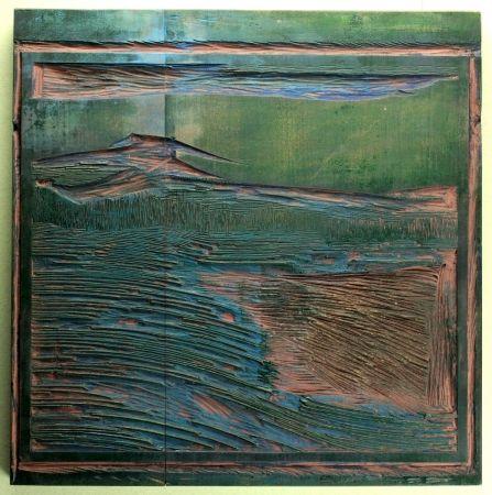 Woodcut Blauensteiner - Landschaft (Landscape)