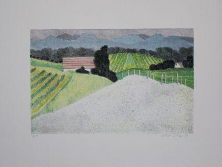 Lithograph Breiter - Landschaft / Landscape