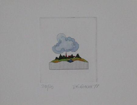 Etching And Aquatint Franke - Landschaft / Landscape