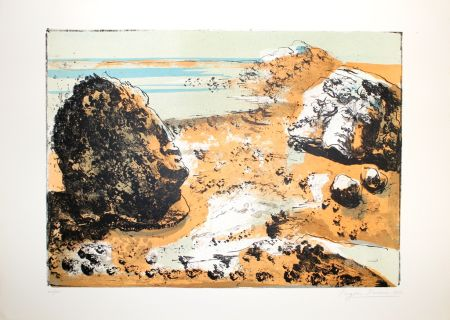 Lithograph Berman - Landschaft / Landscape