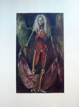 Lithograph Fini - L'Ange de l'Anatomie