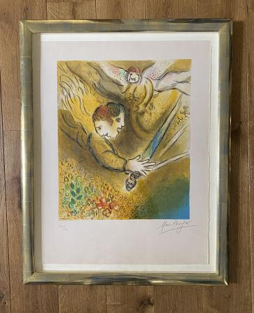 Lithograph Chagall (After) -  L'ange du jugement