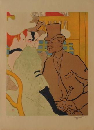 Lithograph Toulouse-Lautrec - L'Anglais au Moulin Rouge