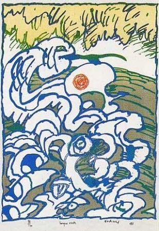 Lithograph Alechinsky - Langue verte