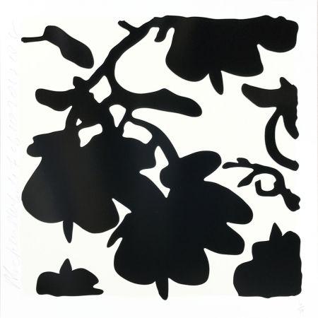 Screenprint Sultan - Lantern Flowers (Black /White)