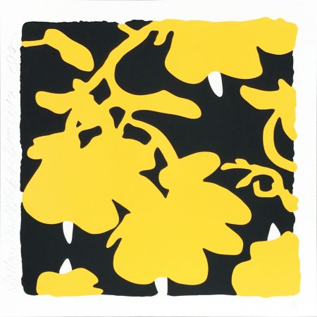 Screenprint Sultan - Lantern Flowers (Yellow/Black)
