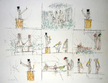 Lithograph Matta - L'anti-procès