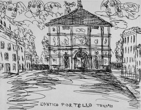 Engraving Zancanaro - L'antico Portello