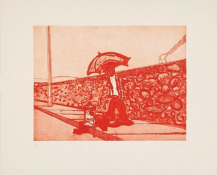 Etching And Aquatint Doig - Lapeyrouse Wall