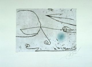 Etching And Aquatint Miró - Lapidari, Safir
