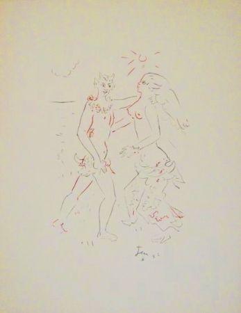 Lithograph Cocteau - L'après-midi d'un faune (Debussy)