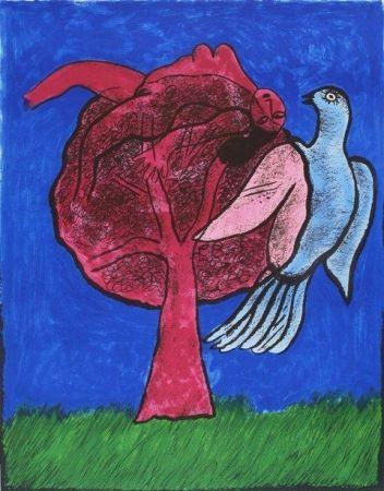 Lithograph Corneille - L'Arbre Rouge