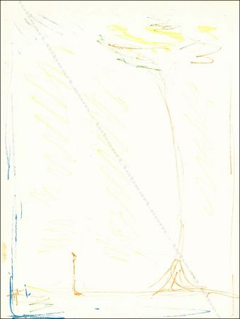 Linocut Giacometti - L'arbre / The Tree.