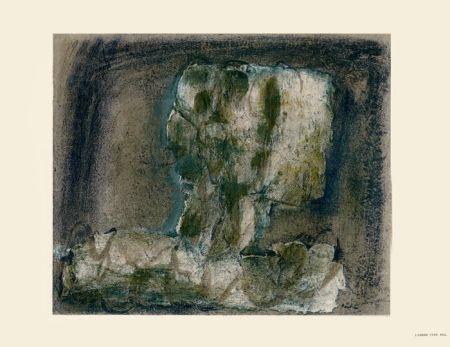 Lithograph Fautrier - L'Arbre vert