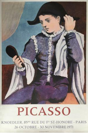 Lithograph Picasso - '' L'Arlequin au Miroir ''