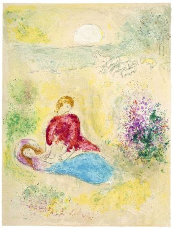 Lithograph Chagall - L'Arondelle (The Little Swallow from Daphnis & Chloé - 1961)