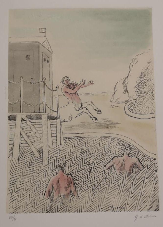 Etching And Aquatint De Chirico - L'ARRIVO DEL CENTAURO