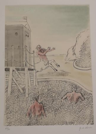 Etching And Aquatint De Chirico - L'ARRIVO DEL CENTAURO