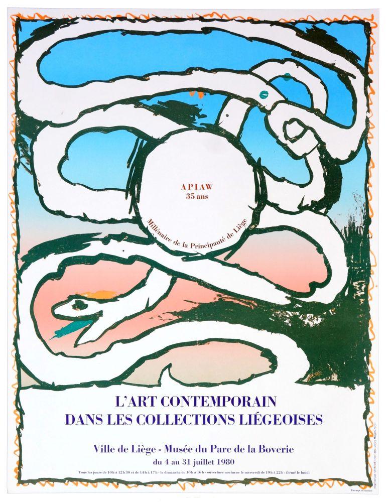 Poster Alechinsky - L'art contemporain dans les collections liégeoises, 1980