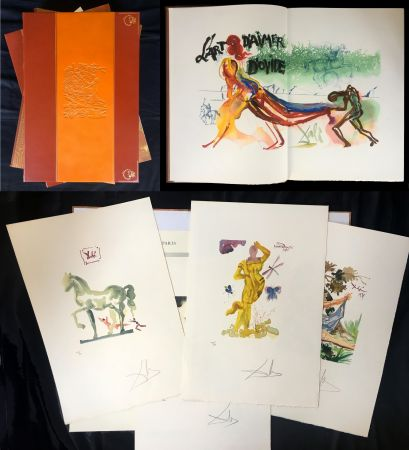 Illustrated Book Dali - L'ART D'AIMER. 15 gravures originales de Salvador Dali.