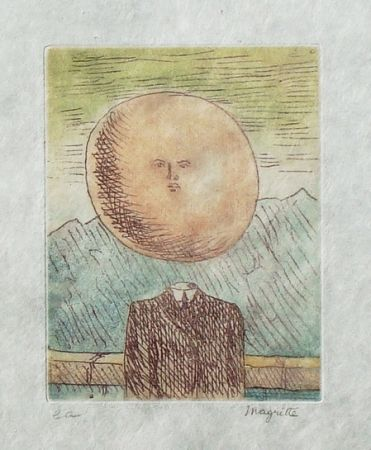 Etching And Aquatint Magritte - L'art de vivre