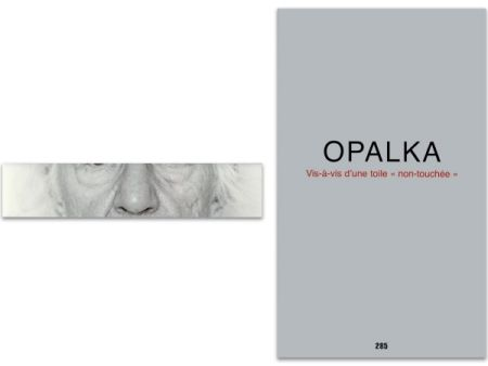 Illustrated Book Opalka - L'art en écrit