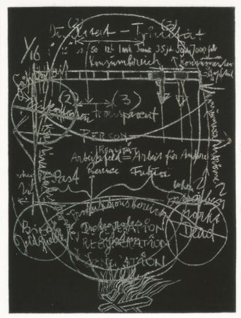 Aquatint Beuys - L'arte è una zanzara dalle mille ali - III