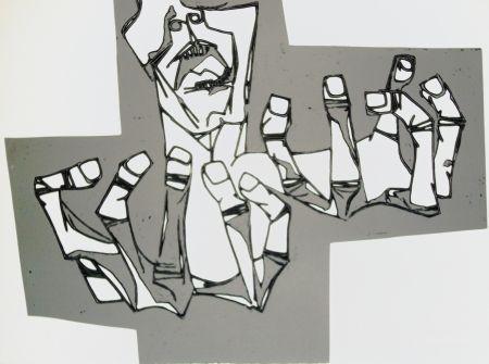 Etching Guayasamin - Las manos de la ira