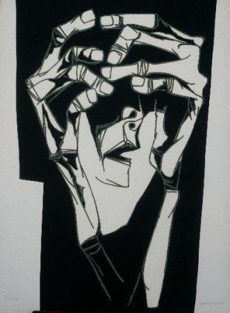 Etching Guayasamin - Las manos del terror variante