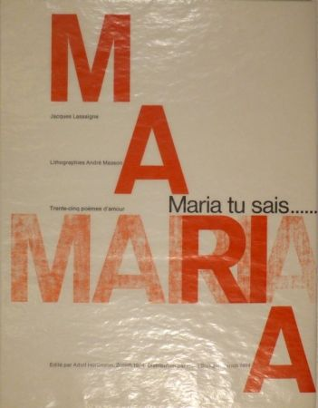 Illustrated Book Masson - LASSAIGNE, Jacques. Maria tu sais.