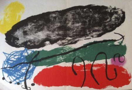Lithograph Miró - L'astre patagon