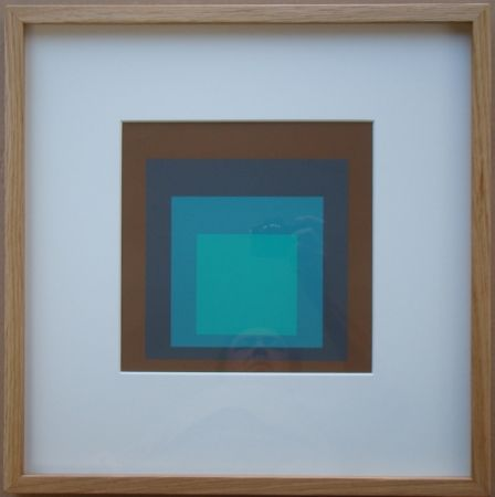 Screenprint Albers - Late Forest - Homage to the Square