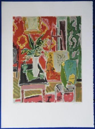 Lithograph Cavailles - L'atelier