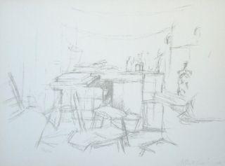 Lithograph Giacometti - L'Atelier aux bouteilles