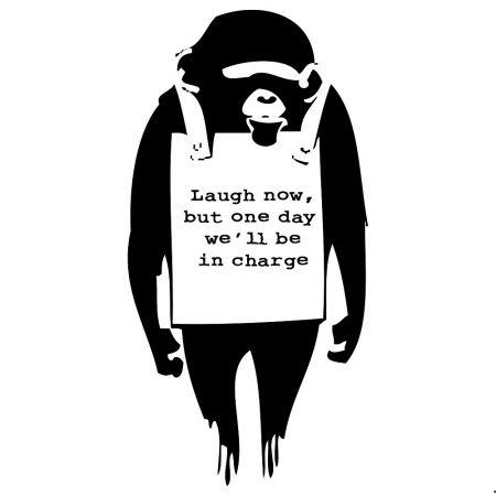 Screenprint Banksy - Laugh Now