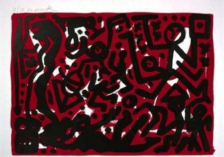 Lithograph Penck - Lausanne 2 Aber Hallo