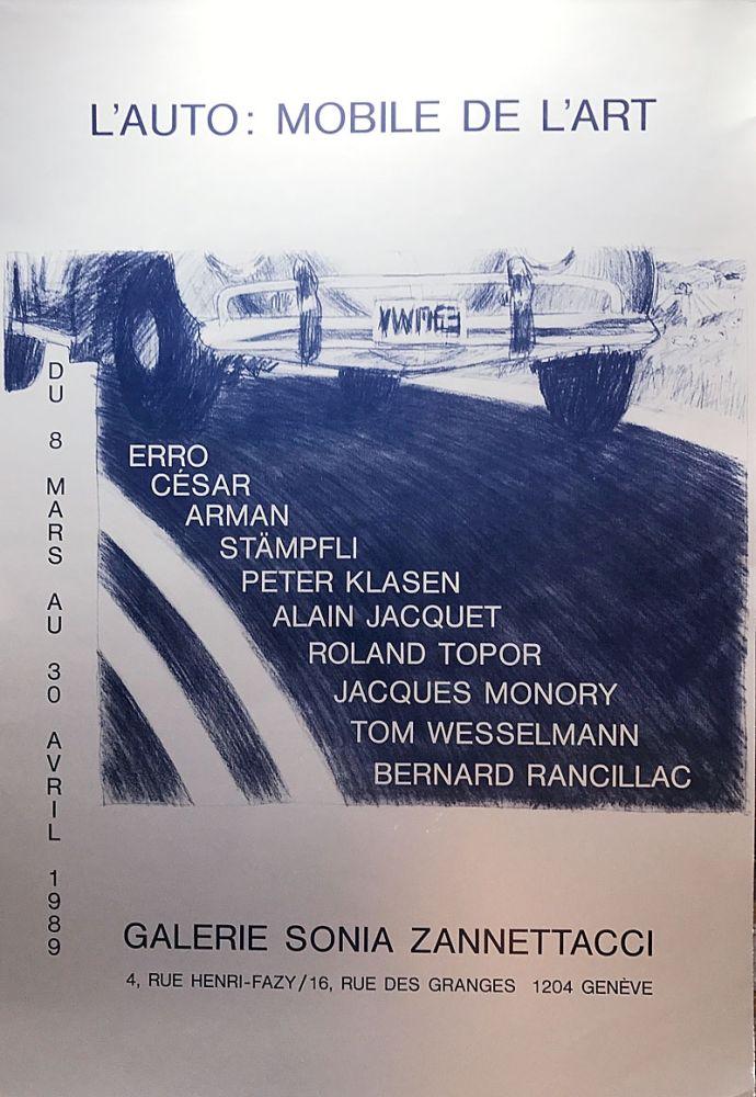 Screenprint Cesar - L'Auto: Mobile de l'Art