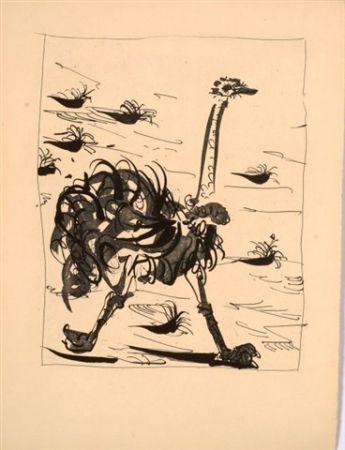 Aquatint Picasso - L'autruche