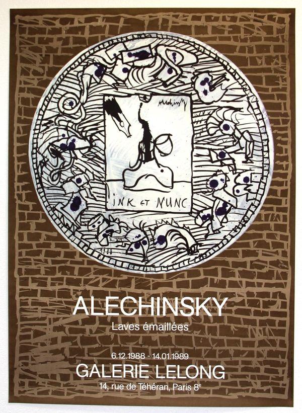 Lithograph Alechinsky - Lave Emaillée  Galerie Lelong