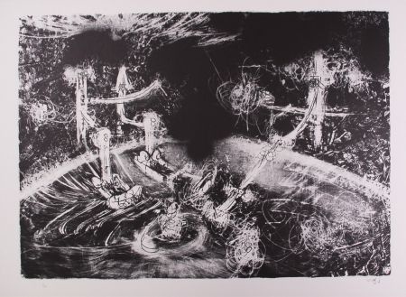 Lithograph Matta - Le acque d'arno