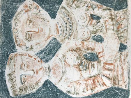Lithograph Campigli - LE AMICHE - Les Amies