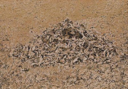 Lithograph Cueco - Le as de Feuilles