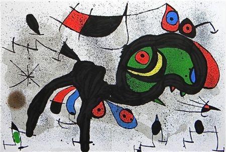 Lithograph Miró - Le Bélier fleuri