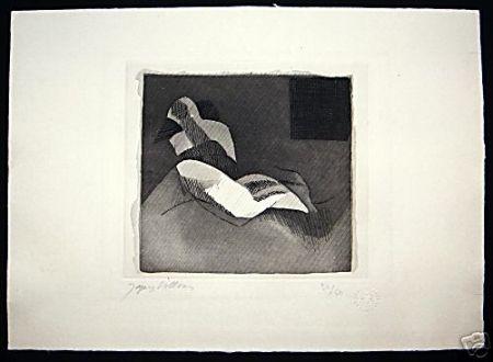 Engraving Villon - Le Baiser